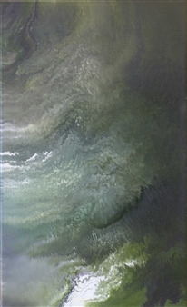 Alla Struchaieva - Galactic Nebula Oil on Canvas, Paintings