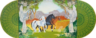 Doris Brown - Horse: Her Grace and Strength Acrylic & Mixed Media on Wood, Paintings