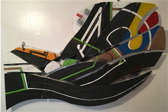 Craig Freeman - St. Peter's Fishtail Acrylic, Chipboard, Plastic, Sculpture
