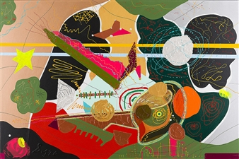 David Syre - A Fish and Global Warming Acrylic on Canvas, Paintings