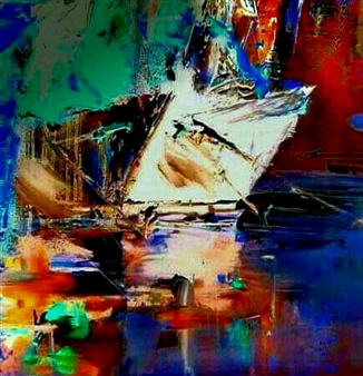 Babis (Bujar) Arizi - Untitled 8 Oil on Canvas, Paintings