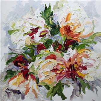 Rachelle Brady - Lasting Love Oil on Canvas, Paintings