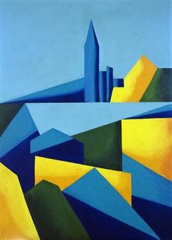 Maribel Matthews - New York New York Oil on Canvas, Paintings