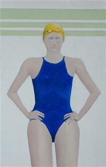 Jorge Garcia-Sainz - Swimmer Oil on Canvas, Paintings