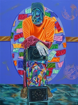 Roberto Tores Pare Mouamfon - Without Words Acrylic on Canvas, Paintings