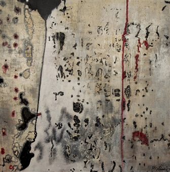 Mariela Soldano - Smoke Acrylic on Wood Board, Paintings