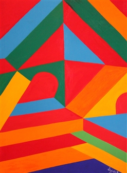 Diego Velez - Piramide Acrylic on Canvas, Paintings