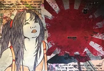 Sydnei SmithJordan - The Dawn Mixed Media on Paper, Mixed Media