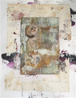 Lorena Becerra - Defragmented Horse Collage & Mixed Media on Canvas, Mixed Media