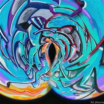 Juan Murcia - Raw Graffiti Archival Pigment Print, Photography