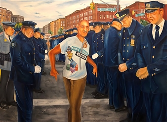 Herold Patrick Alexis - Only in the Bronx Oil on Canvas, Paintings
