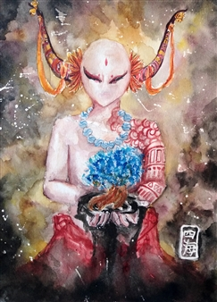 Xiao daCunha - Origin From Water Watercolor & Ink on Paper, Paintings
