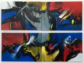 Patricia Queiruga - Ritmos (quadriptych) Acrylic on Canvas, Paintings