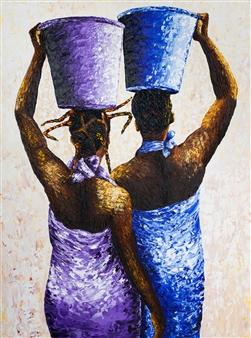 Richard RAN - Inevitable Errand Acrylic & Oil on Canvas, Paintings