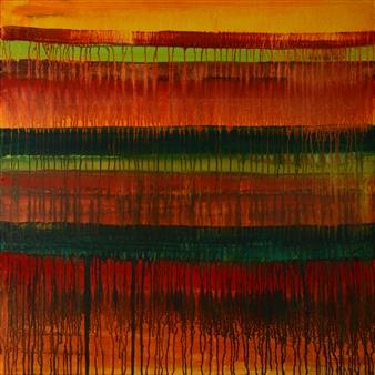 George Oommen - K 22 Kanjeevaram Acrylic on Canvas, Paintings
