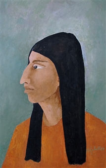 Marliese Scheller - Portrait Oil on Masonite, Paintings