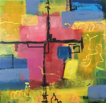 Paul Kittlaus - Untitled #178 Acrylic on Canvas, Paintings
