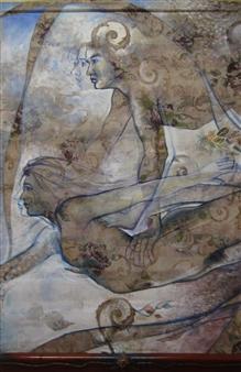 Gilberto Arriaza - Danza Marina Acrylic & Pastel, Paintings