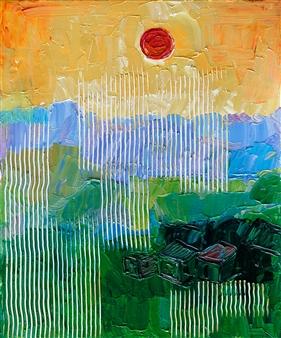 Yegana Azadova - A Sunny Day Acrylic on Canvas, Paintings