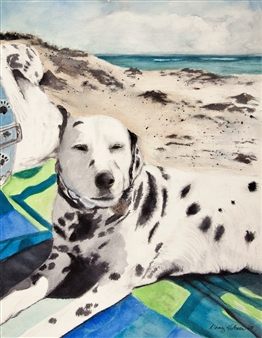 Nancy Holleran - Dalmation Beach Fun Giclee Print, Prints