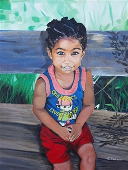 Latoya Tidd - Children's Lives Matter Oil & Acrylic on Canvas, Paintings