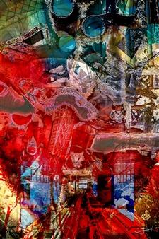 Frédérique Négrié - Incandescence 2 Digital Painting on Aluminum, Digital Art