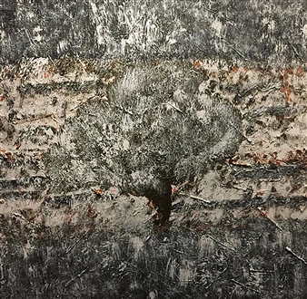 Kim Hinkson - Autumn Snow Acrylic on Canvas, Paintings