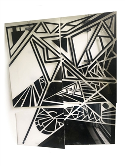 Craig Freeman - Unbroken Plastic, Spray Paint, Mixed Media