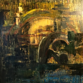 Fleur Cowgill - Butrint: Lion Gate Oil & Mixed Media on Canvas, Mixed Media
