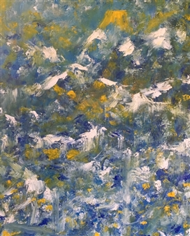 Karen Kanas - Peaks Acrylic on Canvas, Paintings