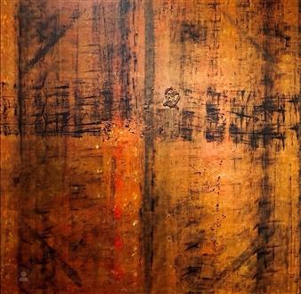 Kim Hinkson - Sacred Doors Acrylic on Canvas, Paintings
