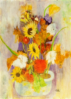 Pauline Rakis - Nature's Grace Acrylic on Canvas, Paintings