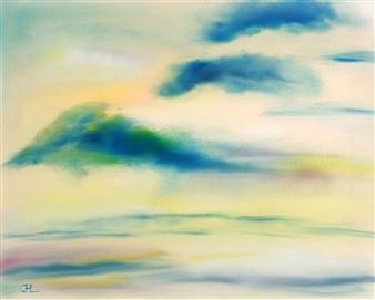 Christine Lückmann - The Heaven Oil on Canvas, Paintings