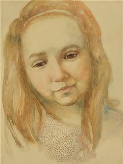 Pauli Zmolek - Elizabeth Watercolor on Paper, Paintings