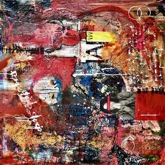 Rebeca Segura Rahme - Leyend Collage on Canvas, Mixed Media