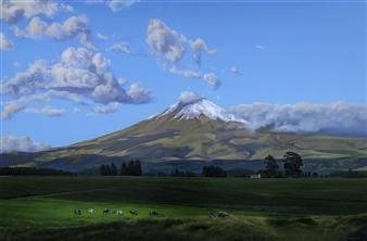 Mauricio Valdiviezo - Cotopaxi Oil on Canvas, Paintings