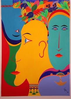 Diego Velez - Putumayo Acrylic on Canvas, Paintings