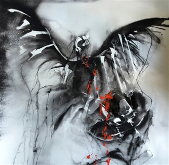 Dana Ingesson - Poison of Love Watercolor on Paper, Paintings
