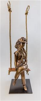 Anita Birkenfeld - Lady Rasta Bronze, Sculpture