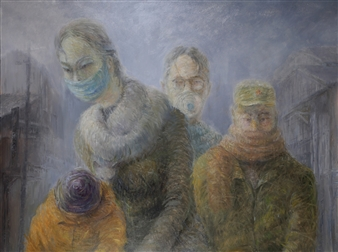 Jian Jun An - Haze 3D Painting, Acrylic on Canvas, Paintings