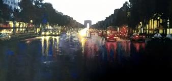 Emanuele Biagioni - Impressione Serale Acrylic on Board, Paintings