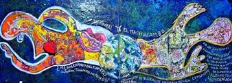 Elena Gastón Nicolás - La Churri y el Machucambo. The Chick & The Bloke Acrylic on Canvas, Paintings