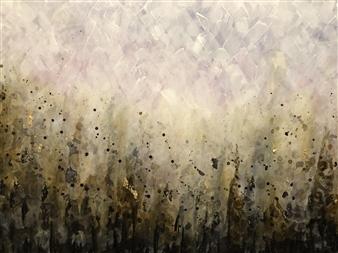 Tiffany Reid - Smoulder Acrylic & Resin on Canvas, Paintings