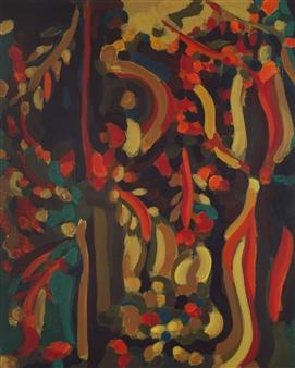 Claudia C Forero - Bostonian Tree I. Flora and Fauna. Acrylic on Canvas, Paintings
