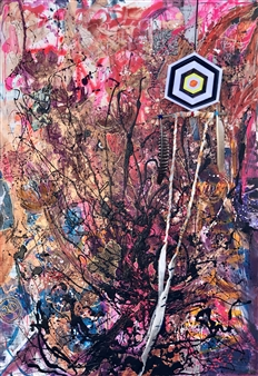 Rebeca Segura Rahme - Gaia's Spell Collage on Canvas, Mixed Media