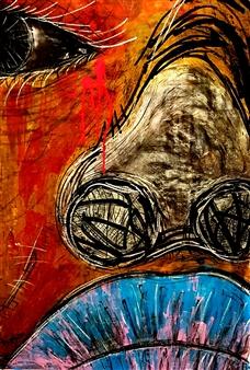 Franck Sastre - Ta Douleur Est Ma Douleur Mixed Media on Canvas, Mixed Media