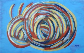 Carlos E. Porras M. - Ram Acrylic on Canvas, Paintings