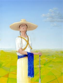 Jorge Garcia-Sainz - La Adelita Oil on Canvas, Paintings