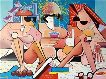RW Fuller - Les Demoiselles de OTLes Acrylic on Canvas, Paintings