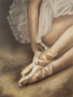 Cuquis Quiroz - Pause Pastel on Paper, Paintings